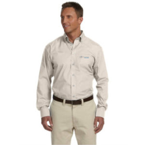 Chestnut Hill Mens Executive Performance Broadcloth STONE