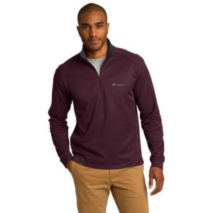 Port Authority Vertical Texture 4-Zip Pullover MAROON